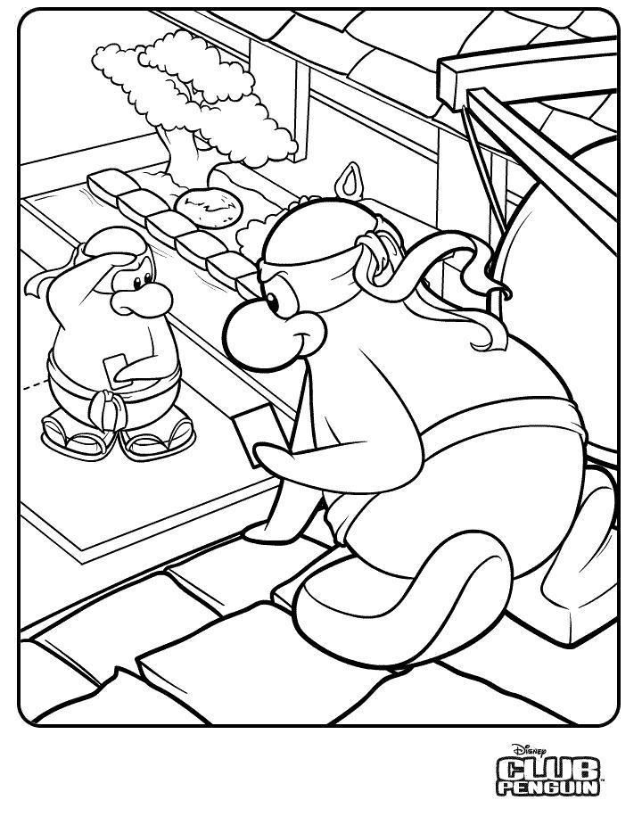 club penquin coloring pages - photo#3